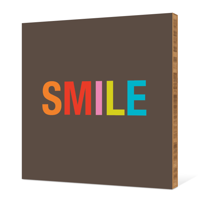 Smile Bamboo Wall Art - Tangerine