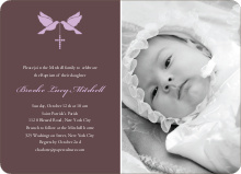 Dove and the Holy Spirit Baptism Invitations - Purple