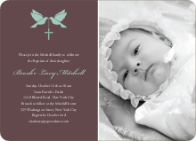 Dove and the Holy Spirit Baptism Invitations - Pale Blue