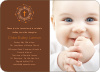 Holiday Baptism Invitation - Orange