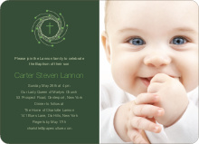 Holiday Baptism Invitation - Light Green