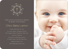 Holiday Baptism Invitation - Light Yellow