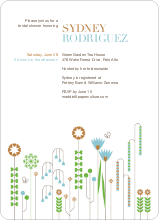 Spring Beauty Flower Shower Invites - Copper