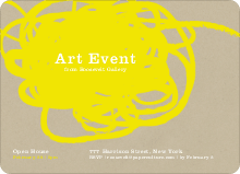 Abstract Brush Invitations - Mellow Yellow