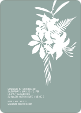 Simply Lilies Modern Party Invitation - Sage