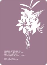 Simply Lilies Modern Party Invitation - Plum