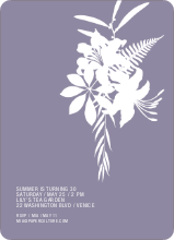 Simply Lilies Modern Party Invitation - Steel Purple