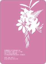 Simply Lilies Modern Party Invitation - Violet