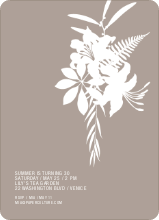 Simply Lilies Modern Party Invitation - Rosy Grey