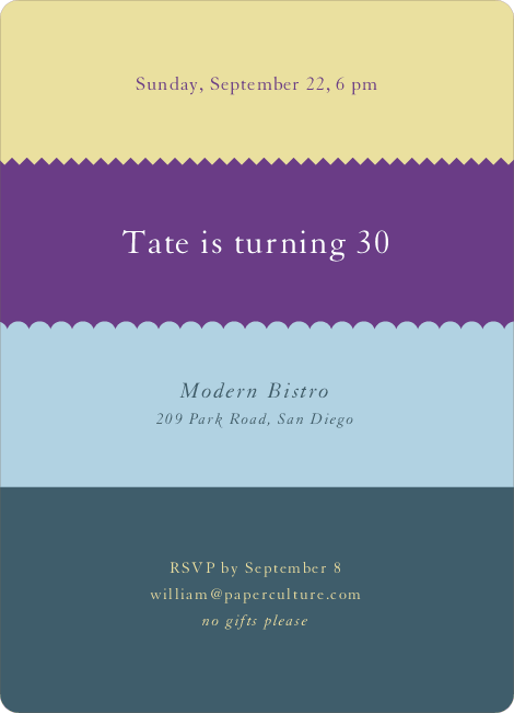 Color Stripes Invitations - Multi