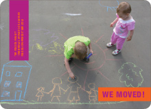 Moving Photo Announcements - Orange Scribble