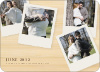4 Photo Polaroid Pregnancy Announcements - Bamboo