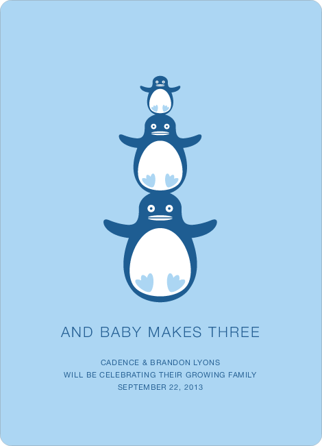 Penguin Pregnancy Announcements - Rushing River
