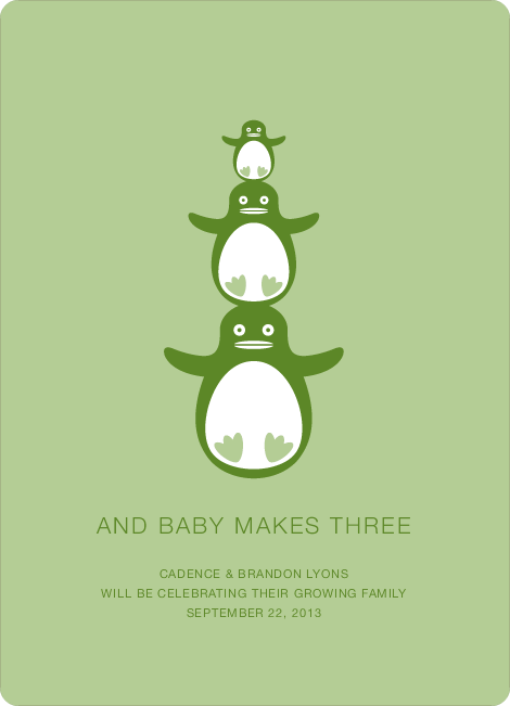 Penguin Pregnancy Announcements - Iceberg Salad