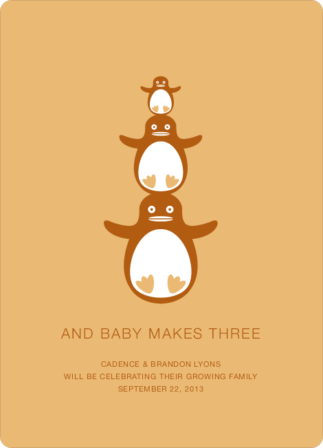 Penguin Pregnancy Announcements - Squash