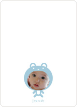 Baby Bear Announcement: Personal Stationery - Baby Blue