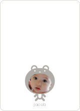 Baby Bear Announcement: Personal Stationery - Silver Grey