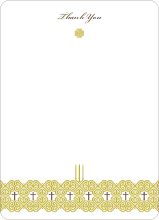 Elegant Candle Baptism Invitation - Greenish Yellow