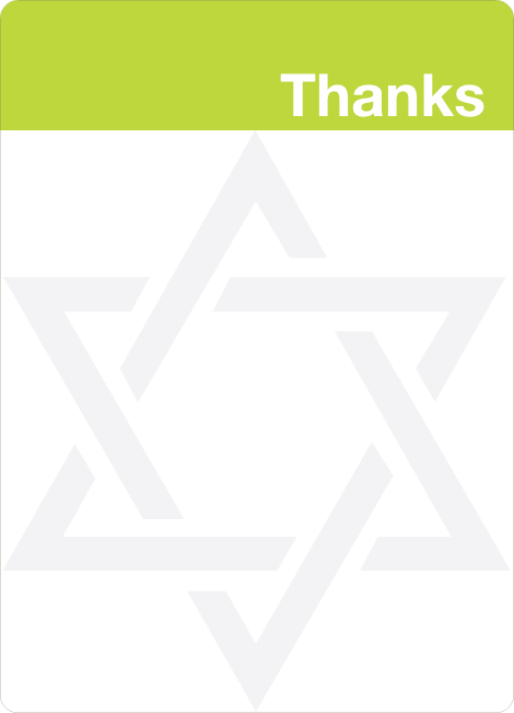Note Cards: 'Mazel Tov Bar and Bat Mitzvah' cards. - Chartreuse