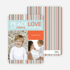 Peace Love and Merry Everything Holiday Photo Cards - Carrot