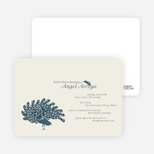 Peacock Bridal Shower Invitations - Slate Blue