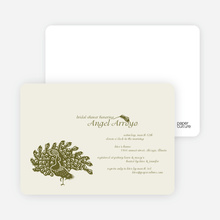 Peacock Bridal Shower Invitations - Olive Green