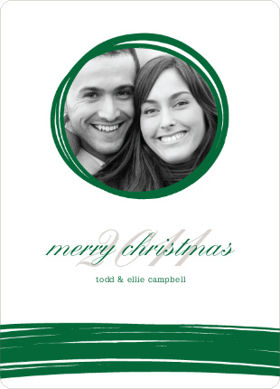 Peephole Holiday Photo Cards - Emerald Green