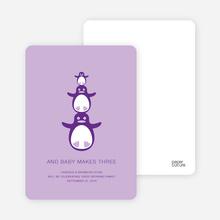 Penguin Family - Lavender Petal