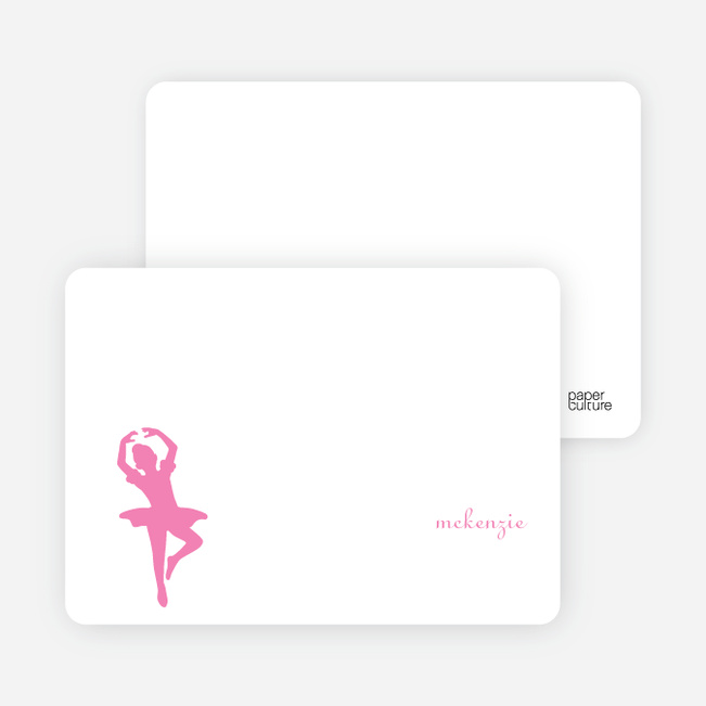 Personal Stationery for Ballerina Modern Birthday Party Invitation - Hot Pink