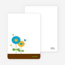 Personal Stationery for Butterflies and Flowers Modern Birthday Invitation - Sky Blue