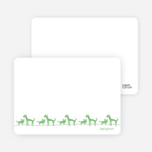 Cats, Dogs and a Newborn Baby: Personal Stationery - Asparagus
