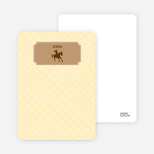 Ride 'Em Cowboy: Personal Stationery - Chocolate
