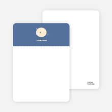 One Darn Cute Piggy: Personal Stationery - Cadet Blue