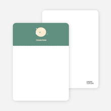 One Darn Cute Piggy: Personal Stationery - Dark Sage