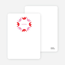 Elephant Kaleidoscope: Personal Stationery - Tomato Red