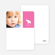 Personal Stationery for Ernie the Elephant's Modern 2nd Birthday Invitations - Hot Pink