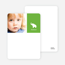 Ernie the Elephant: Personal Stationery - Apple Green