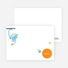 Monkey Business: Personal Stationery - Azure