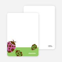 Orange Ladybug: Personal Stationery - Apple Green