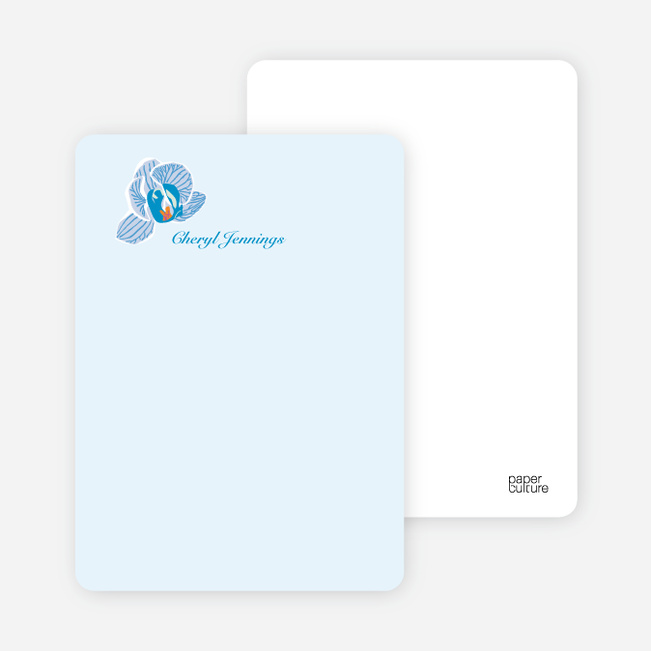 Personal Stationery for Orchid Bridal Shower Invitations - Baby Blue