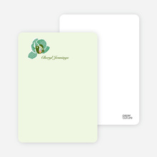 Orchid Bridal Shower Invitations: Personal Stationery - Mint Green