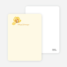 Orchid Bridal Shower Invitations: Personal Stationery - Cream