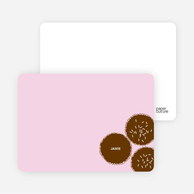 Personal Stationery for Premium Cupcakes Galore Birthday Invitations - Lavender