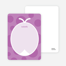 Purple Ladybug: Personal Stationery - Amethyst