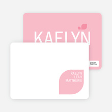 Personal Stationery for Simply Photos: Leaf Modern Baby Announcement - Baby Pink