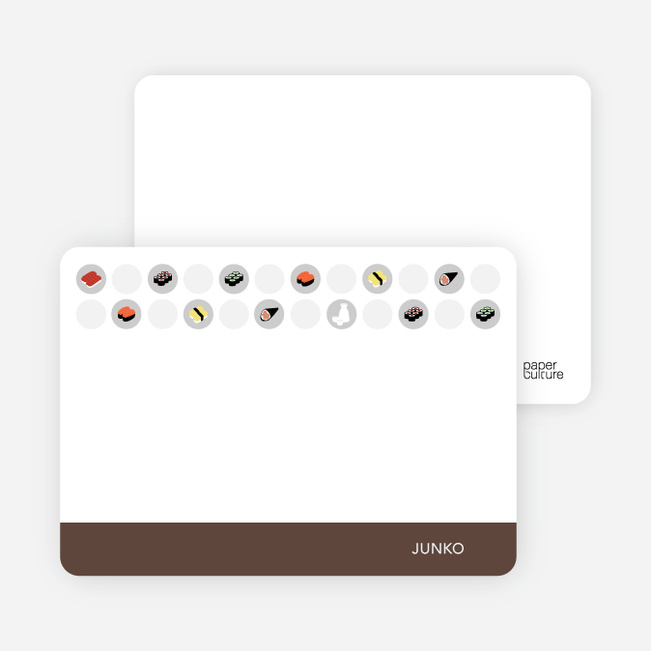 Personal Stationery for Sushi Celebration Card - Cocoa