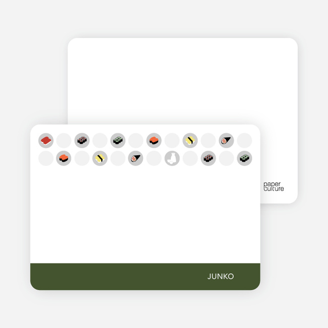 Personal Stationery for Sushi Celebration Card - Khaki