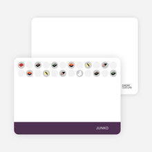 Personal Stationery for Sushi Celebration Card - Grape