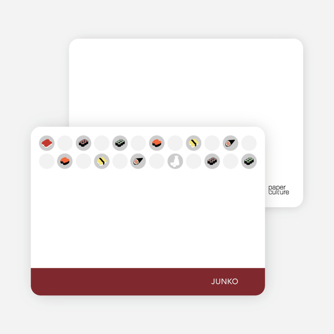 Personal Stationery for Sushi Celebration Card - Sangria