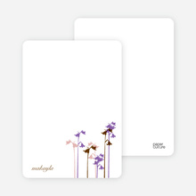 Personal Stationery for Wild Flower Invitation and Announcement - Magenta